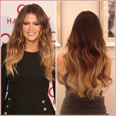 Khloe Kardashians hair color is a great example of a color technique called ombre. With this technique the color gradually fades into another color. Khloe Kardashian Hair Ombre, Ombre Hair, Blonde Hair, Celebrity Haircuts, Natural Hair Styles, Long Hair Styles, Grow Out, Grow Hair, Easy Hairstyles