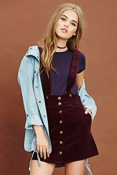 87f4ade618 Corduroy Overall Skirt Salopete Jeans