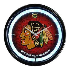 Chicago Blackhawks Plasma Clock. I want it  now!!!! GO HAWKS