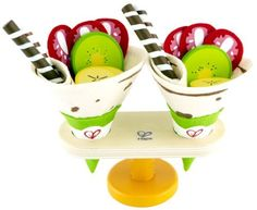 Hape - Playfully Delicious - Crepes - Play Set (6943478007093) Create some crepes, what could be easier or more delicious These crepes are the sweet variety, with strawberry, kiwi and banana slices to compliment scrumptious-looking cookie tubes Set is made from felt and solid Maple wood, which is sustainably-harvested from FSC-managed forests Hape Toy finishes are all non-toxic, child safe and of the highest quality; Hape constructs their toys using FSC accredited wood products For ages 3-5…