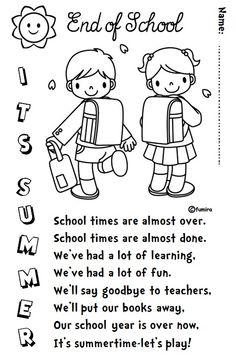 Enjoy Teaching English: END OF SCHOOL (poem)