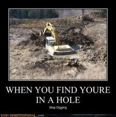 """Like"" this pin if you find this funny or all too familiar! We have a great selection of excavators at http://www.rockanddirt.com/equipment-for-sale/excavators"