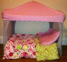 old travel cot idea