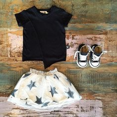 GIRLS • NUNUNU tulle skirt, envelope tee & Converse Chuck Taylor high tops. Shop these styles at Tiny Style in Noosa & online •    www.tinystyle.com.au
