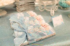 Candy bars at a Frozen birthday party! See more party ideas at CatchMyParty.com!