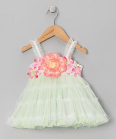 Take a look at this Green Garden Princess Tutu Flower Dress - Infant, Toddler & Girls by Le Pink on #zulily today!