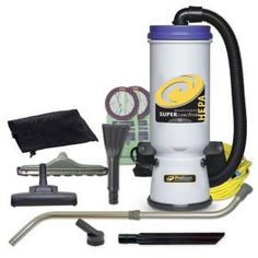 ProTeam Commercial Backpack Vacuum Cleaner, Super CoachVac Vacuum Backpack with HEPA Media Filtration and Residential Cleaning Service Kit, 10 Quart, Corded Backpack Vacuum, Residential Cleaning Services, Cleaning Challenge, Cleaning Hacks, Commercial Vacuum, Low Pile Carpet, Electronic Recycling, Recycling Programs, Cool Backpacks