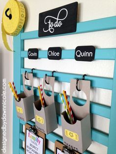 Right Choices DIY Chore Chart and Behavior System Create a beautiful, organized command center to help your family navigate chores and rewards.