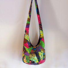 Patchwork Crazy Quilt Hobo Bag Boho Bag Sling Bag by 2LeftHandz, $30.00