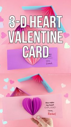 valentines day ideas This bright and colorful Valentines Day card is sure to make someones heart burst with joy! Print out our simple heart card template and along with our easy tutorial to make your own heart card in no time at all. Valentines Bricolage, Kinder Valentines, Valentine Crafts For Kids, Valentines Day Activities, Valentines Day Gifts For Him, Funny Valentine, Valentines Diy, Printable Valentine, Valentine Wreath
