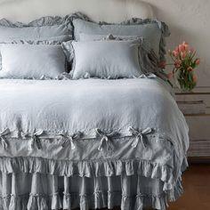 Bella Notte Linens Linen Whisper Duvet - Health and Home White Duvet Covers, Bed Duvet Covers, French Country Bedding, Country Bedding Sets, King Bedding Sets, Luxury Bedding Sets, Comforter Sets, Blue Duvet, Linen Duvet