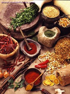 spices--lots and lots!