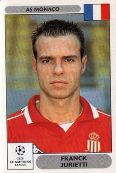 MONACO - Franck Jurietti 166 2000 2001 PANINI UEFA Champions League Sticker Football Cards, Football Players, Baseball Cards, As Monaco, Man Games, Uefa Champions League, Soccer, France, Stickers