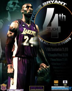 Kobe Bryant surpass Wilt in Scoring list.    design by GmanGFX    -Ao24    more at http://weheartlakers.com