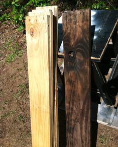 Apple cider vinegar, coffee grounds, and steel wool: Great (and cheap) way to stain/weather new wood!