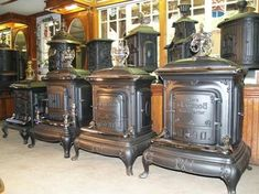 Parlor stoves of the late 1800s