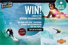 Newquay, Two People, Activity Centers, Competition, Surfing, Ocean, Activities, Holiday, Movie Posters