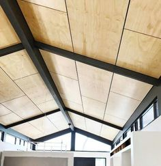 Plywood Ceiling, Roof Ceiling, Plywood Walls, Ceiling Cladding, Deco Cool, Plywood Interior, Home Insulation, Colored Ceiling, Backyard Sheds