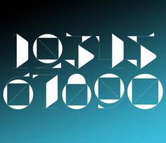 Fast Company — Numbers / type design by SAWDUST, via Behance