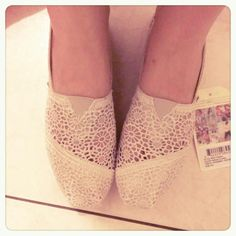 TOMS @Danielle Lampert Lampert Meisinger these would be cute and dressier for brides maids! :)