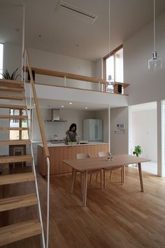 all wood and white super minimal interior design Loft Design, Tiny House Design, Small Apartments, Small Spaces, Studio Loft Apartments, Open Spaces, Home Interior Design, Interior Architecture, Ideas Cabaña