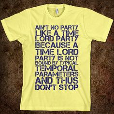 Geek love. I want this now. Or whenever, being that Time Lords and their parties are not bound by temperal parameters