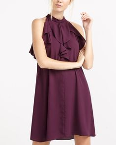 Sleeveless Dress Canadian Clothing, Stunning Dresses, Ruffles, Elegant, Unique, Clothes, Color, Tops, Women