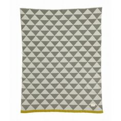 "Little Remix Knitted Blanket    Ferm LIVING uses its Little Remix print to make this pretty knit blanket for children. The knitted blanket is made of 100% cotton, and the jacquard knit inverts the colours, so each side looks different.      Size: 32"" X 39""    100% Cotton    ..."