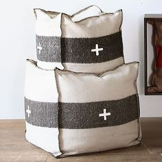 Color: Cream/Black Material: wool Available in 3 sizes: See Description Black Candelabra, Outdoor Pouf, Bay Lake, Black Furniture, Swiss Army, Floor Pillows, Objects, Reusable Tote Bags, Cream