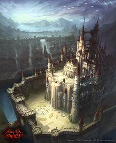 ArtStation - Empire of Chaos _ castle, TAK LEE