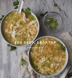 Chicken Corn Soup, Egg Drop Soup, Hot Pot, Chinese Restaurant, Asian, Soup Recipes, Healthy Eating, Lunch, Stuffed Peppers