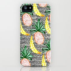 Pineapple and Banana iPhone & iPod Case by Bouffants and Broken Hearts - $35.00