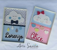 Cute Notebooks, Baby Shawer, Wall Banner, Felt Dolls, Doll Patterns, Quilling, Projects To Try, Alice, Stationery