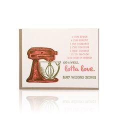 Wedding Shower Mixer Card