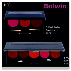 Bolwin Lipstick Palette, create your own palette, 3 or 5 well palette, available in 200 shades #matte , hi gloss, creamy and pearl . Love them already, comes exactly as seen .. Other products still available for #Wholesale or #Retail Ask for our Price List, We #Ship all over #Nigeria  #Bolwin #BolwinLipstickPalette #MatteFinish #GorgeousShades #FantasticValue