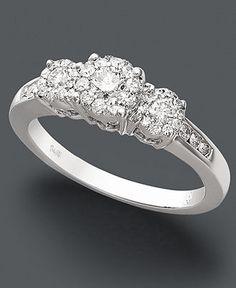 Prestige Unity Diamond Ring, 14k White Gold Diamond Engagement Ring (1/2 ct. t.w.) - Rings - Jewelry & Watches - Macy's