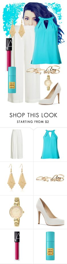 """Drinks After Work"" by dundiddit ❤ liked on Polyvore featuring Diane Von Furstenberg, Trina Turk, GUESS, Invicta, Jessica Simpson, NARS Cosmetics and John Lewis"