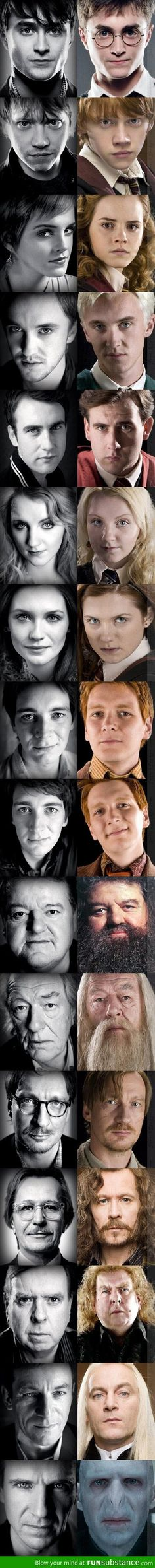 The real faces behind Harry Potter characters