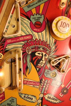 Pinball - Big Indian Left Middle Playfield - Light Shields Removed Light Shield, Pinball Wizard, Penny Arcade, Arcade Games, Pinball Games, Old Coins, Board Games, Game Boards, Vintage Games