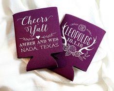 Wedding Favors Cheers Y'all Favors Custom Wedding Favors Rustic Wedding Favors Personalized Favors Antler Favors Cheers Y'all 1461 by SipHipHooray