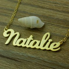 925 Sterling silver gold plated personalized necklace