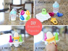 DIY Breastmilk Pops!  Bellissimi Bambini