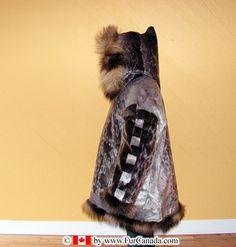 Inuit Sealskin Parka trimmed with wolverine