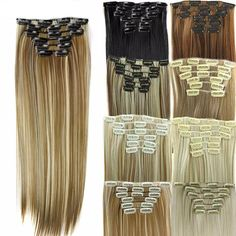 Synthetic Clip-in One Piece Latest Collection Of 1pc 100g 24 Long Heat Resistance Synthetic Straight Clip In On Hair Extension 5 Clips In Hairpiece 26 Colors Available