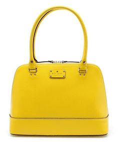 Another great find on #zulily! Yellow Wellesley Rachelle Leather Shoulder Bag by Kate Spade #zulilyfinds