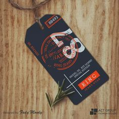 Ring Jeans Wear on Behance Tag Design, Label Design, Packaging Design, Branding Design, Print Design, Custom Hang Tags, Swing Tags, Clothing Tags, Logo Concept