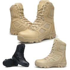 84c1d4da New Mens Army Tactical Comfort Leather Combat Military Ankle Boots Work  Desert Shoes. Shoes from