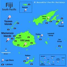 Location Of Fiji Islands Fiji Islands Map Fiji Map Our World - Fiji location