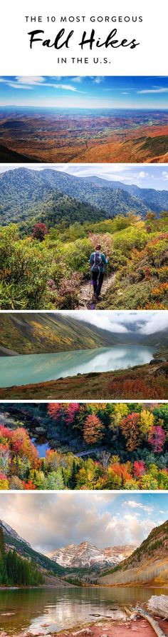 The 10 most gorgeous fall #hikes around the country.#shimonfly