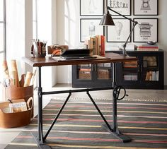Pittsburgh Crank Sit-Stand Desk | Pottery Barn